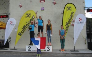 podium jennifer coupe d'Europe vitesse